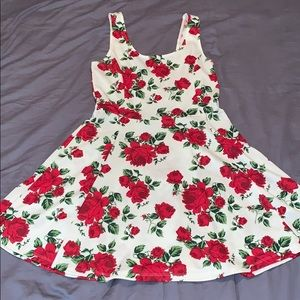 H&M rose print dress